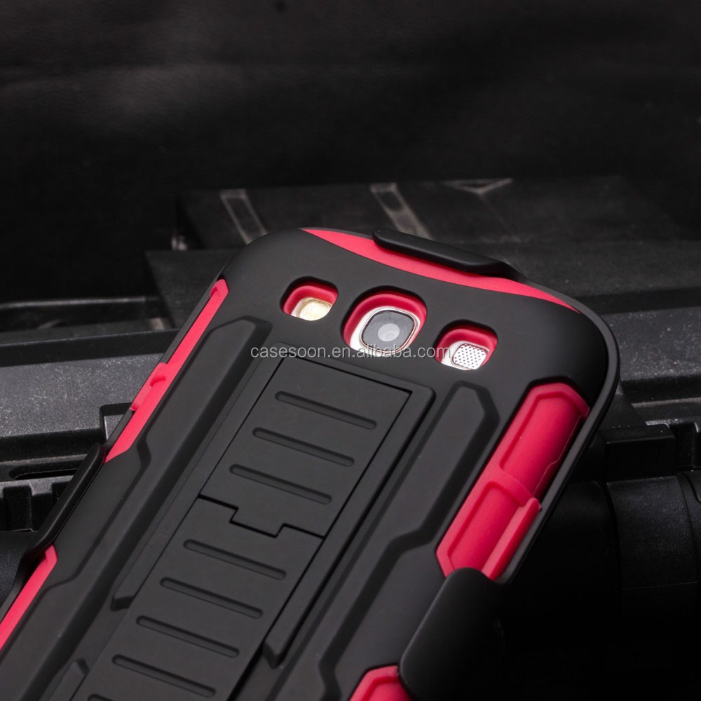 IN STOCK Hot Selling Belt Clip Holster Combo Case for SAMSUNG GALAXY S3 i9300 Phone Case
