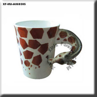 ceramic bisque ready to paint giraffe coffee mug