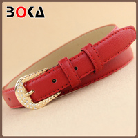 // factory sale latest factory sale Excellent pu leather belt // with diamante for women's dress //