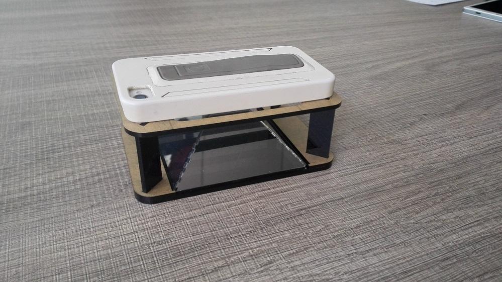how to make hologram pyramid for smartphone