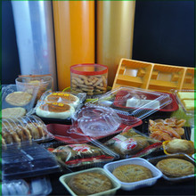 clear square plastic biscuit/moon cake insert packaging box
