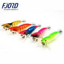 FJORD Laser fish 3D eyes artificial shrimp bait hard plastic equipment fishing squid jig lure with luminous soft legs