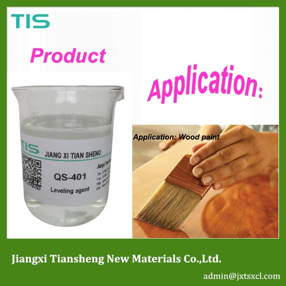 Adhesive composition leveling agent for industrial paint