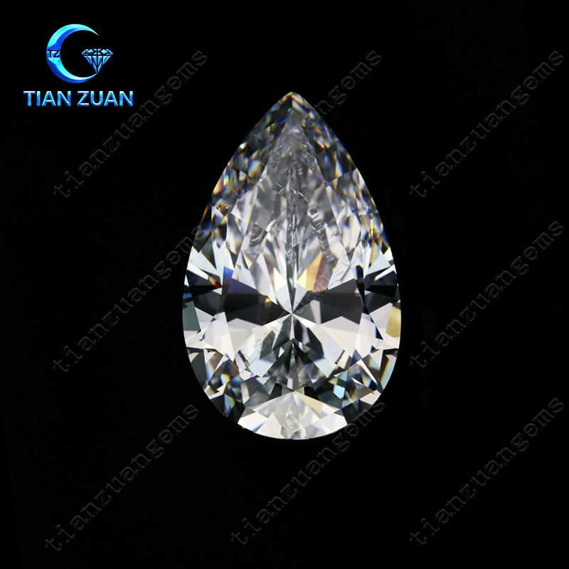 6A pear shape Cubic Zirconia white color Synthetic Diamond machine cutting for jewelry making CZ stone