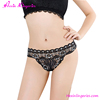 Wholesale Black Lace Open Butt Sexy Adult Woman Transparent Panty Lingerie