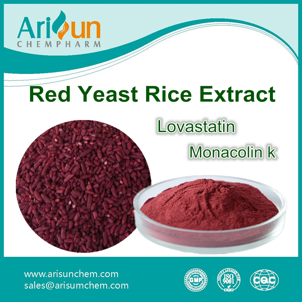 Factory Supply Red Rice P.E. 5% /Red Yeast Rice P.E. 5%