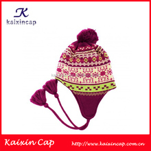 Fashion baby hats caps crochet tassel winter hat