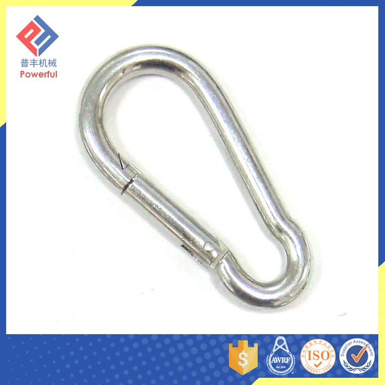 DIN 5299 C Small Stainless Steel Safety Carabiner Clip