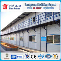 Color steel sandwich panel corrosion resistance prefabricated residential houses for Russian workers dormitory