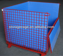 Material Handling Equipment Foldable warehouse storage steel welded wire cages