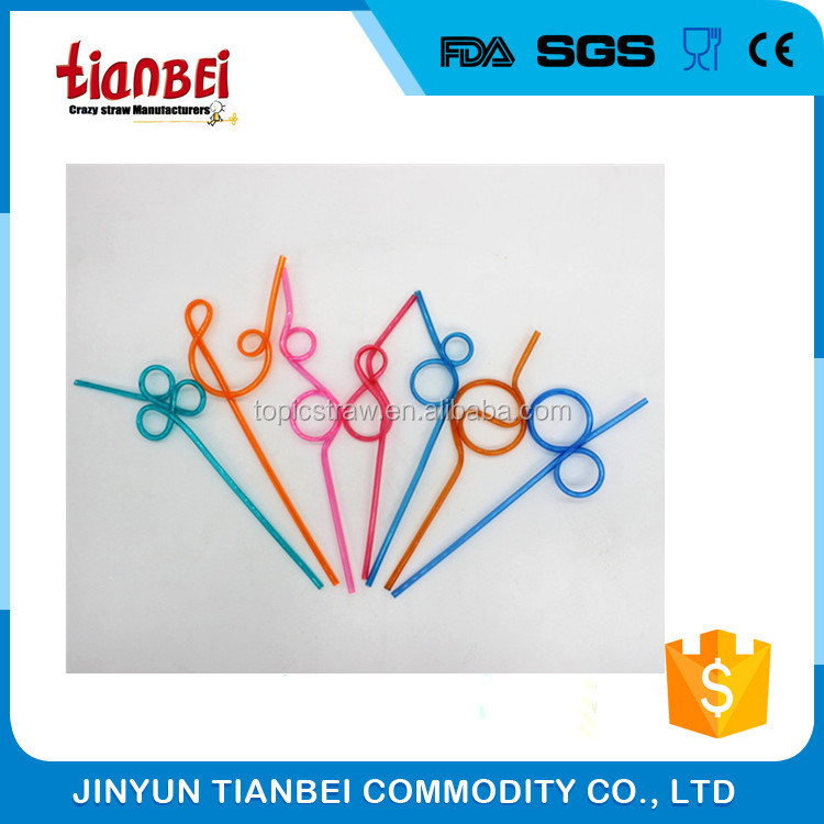 colorful artificial straws with different shape