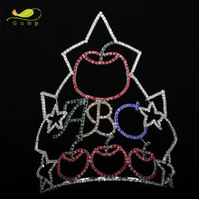 Large Pageant Tiaras Rhinestone Crown