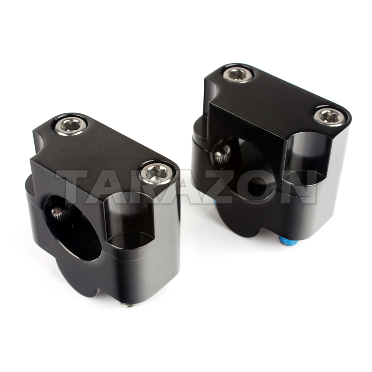 "CNC Universal 7/8"" Taper Handlebar Riser Clamp Dirt Pit Bike"