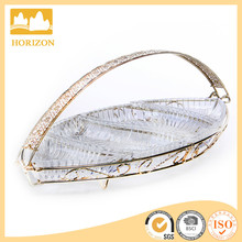 glass baskets triangle shaped