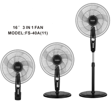 Cheap price guangzhou factory 16inch 3 in 1 wall table stand fan