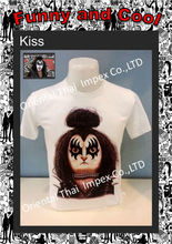 T-Shirt Cotton, Fancy Design, Funny Trendy T-Shirt for men, Parody of Kiss - Rock Band - Paul Stanley, Gene Simmons, Eric Singer