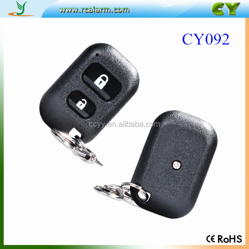 433mhz 2 Buttons Garage Door Remote Control, universal remote control car key, remote control rubber buttons CY092