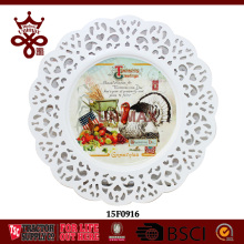 Wedding Decorative Iron Power Coation Party Plate Cake Food Round Plates