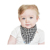 New design Soft Breathable 100% Cotton Washable baby bib waterproof