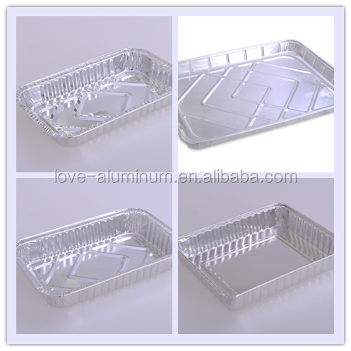 Disposable hot food aluminium tray low price export food for Cuisine aluminium