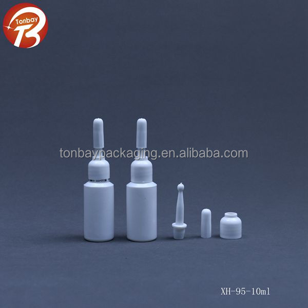 10ml round plastic ampoule bottles 10ml PE cosmetic serum bottles XH-95