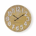 High quality wholesale cheap price wood metal art painting wall clock
