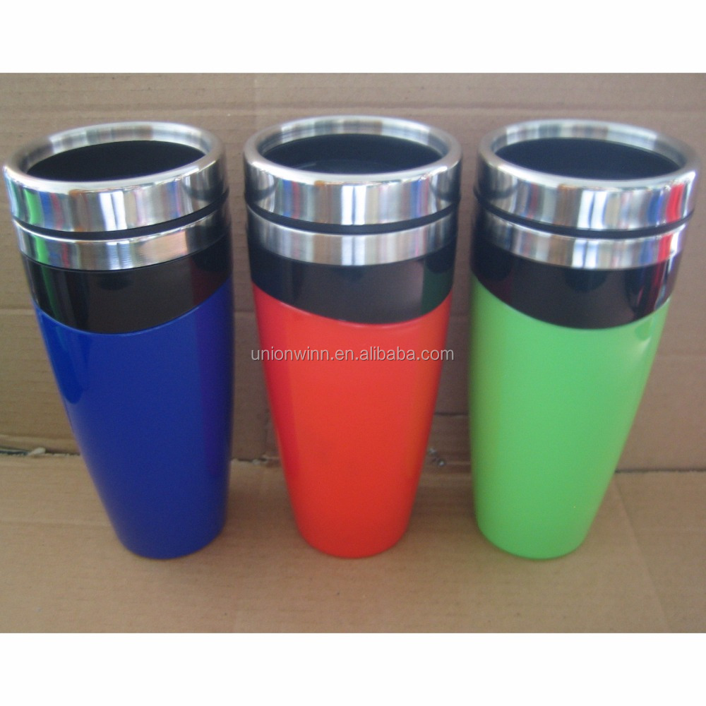 BPA free good quality control microwaveable plastic coffee travel mug