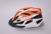 New design PC in-mold road bicycle adult helmet with durable chin strap ,sun visor ,hard adjustor