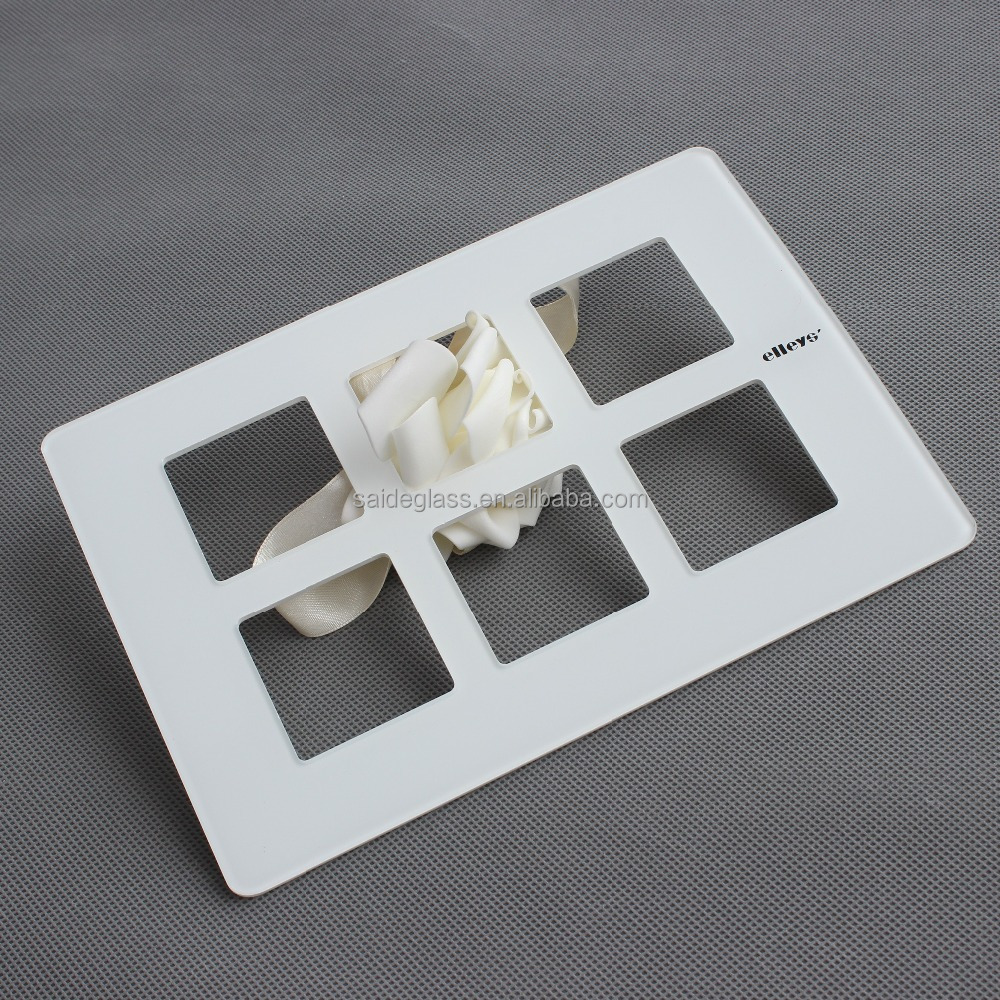 6 gang 1 way touch switch glass panel, touch glass panel, smart switch glass