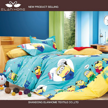 Best-selling despicable me minion kids cartoon bedding set