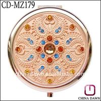 Thanksgiving day gift stainless steel pocket mirror CD-MZ179