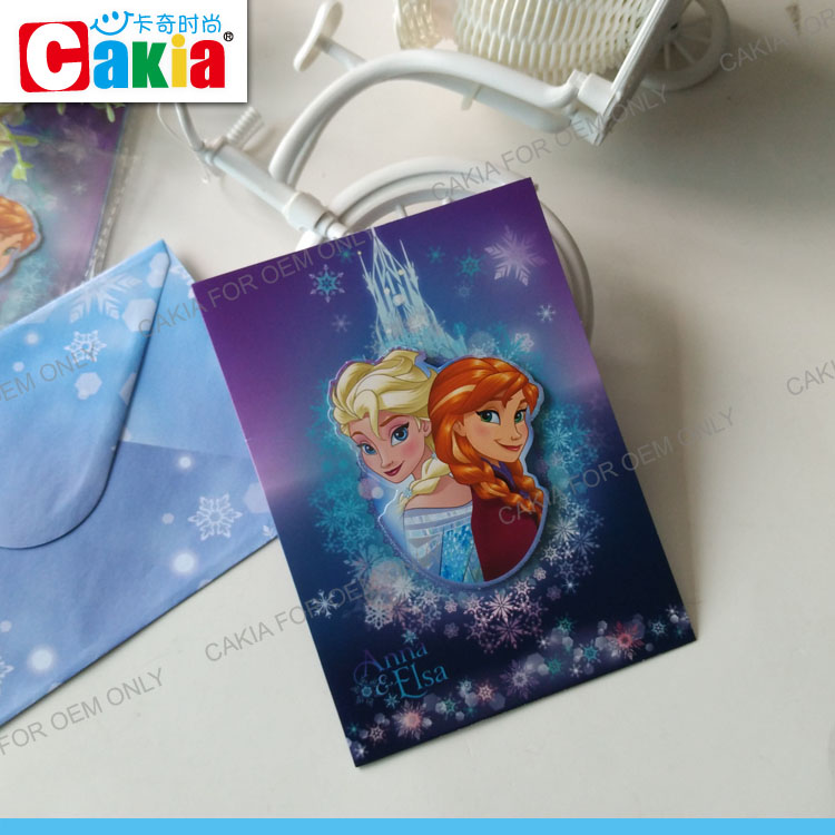 Frozen fancy Chirstmas kids printing greeting card products