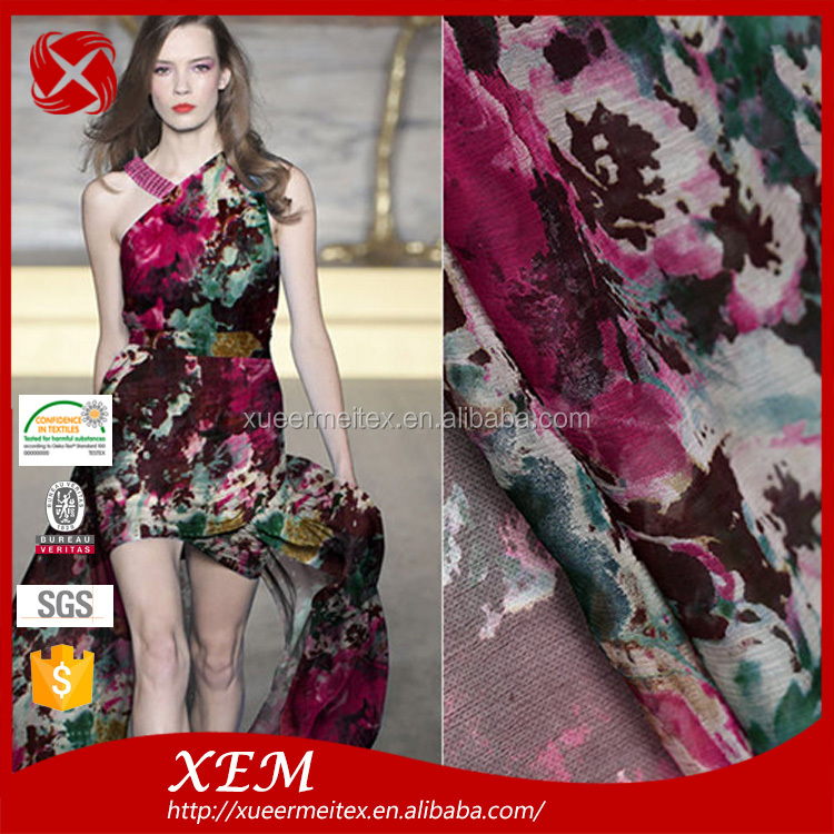 Custom design new fashion velvet and low cost supply High-quality printing fabrics