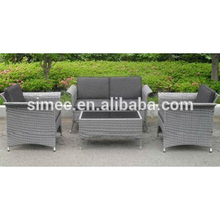 low price high quality steel frame PE rattan wicker outdoor furniture sofa set SCKD-01C