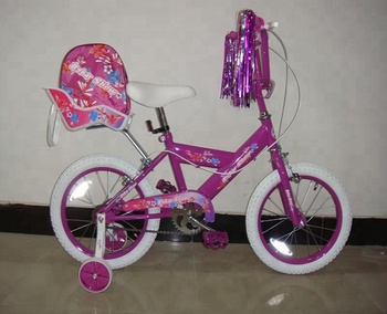 16 kids bicycle baby girls bicycle from hangzhou factory with baby seat