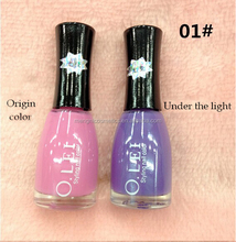 Professional color changing nail polish by different temperature
