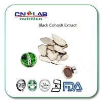 Natural black cohosh extract in pills Cimicifuga racemosa extract