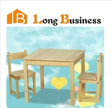 Simple design solid wood children study desk and chair sets furniture