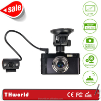 "dual camera car dvr GT100 with 3.0"" screen ALLWINNER A10 chipset video recorder"