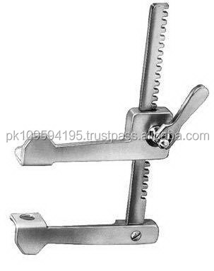 Finochietto Infant 02 Rib Retractor lateral blades 15 x 15 mm spreading 75 mm / Surgical Instruments