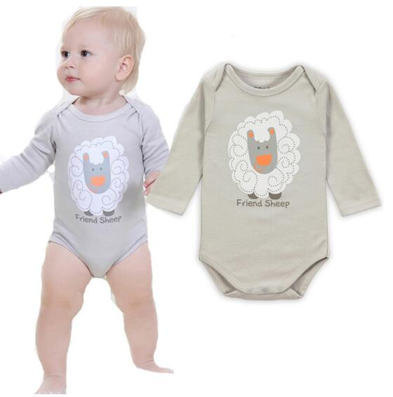 B005 Wholesale Cartoon Style Baby Girl Boy Winter Clothes New Born Body Baby Ropa Next Baby Bodysuit