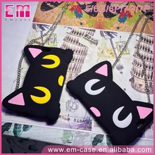 For iPhone 7 7plus 3D Cat Case Soft Silicone Cell Phone Case For iPhone5 6 6plus With Long Chain