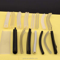 Rubber bumper seal strip for shower screen