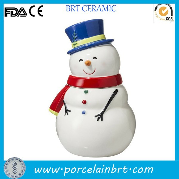 Cute wearing hat smiling Snowman Decoration