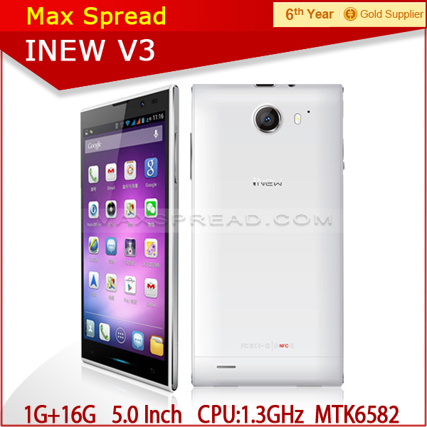 "100% Original Inew V3 MTK6582 Quad Core Smartphone 5.0"" HD Screen 1G RAM 16G ROM Android 13MP Camera 6.5mm slim Phone"