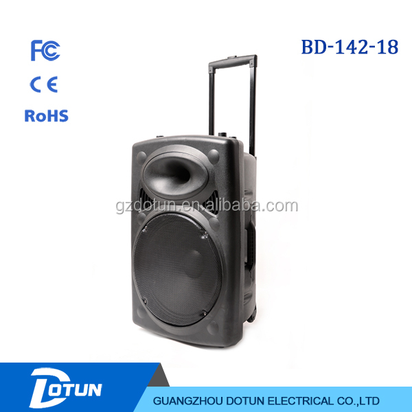 18 inch subwoofer speaker dj sound box audio sound system with power amplifier