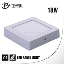 High lumen indoor 18w frameless wall mounted led surface panel light