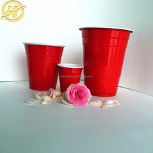 Beverage use plastic solo cups disposable 16oz ps plastic red solo party cups