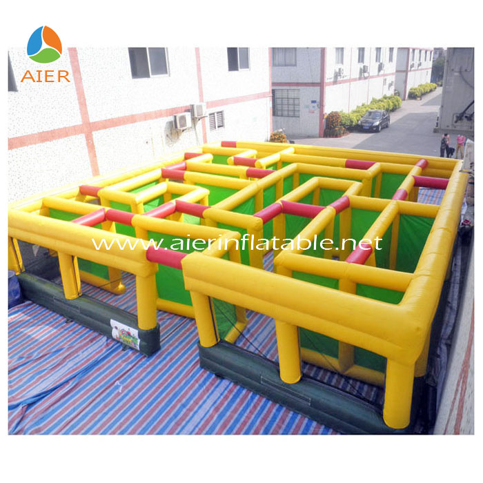 Children Outdoor Inflatable Rush Hour Maze