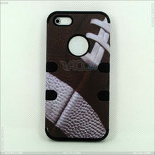 Newest 2013 hot sell case PC+Silicone three in one basketball lines case cover for iPhone 5 P-IPH5HC037